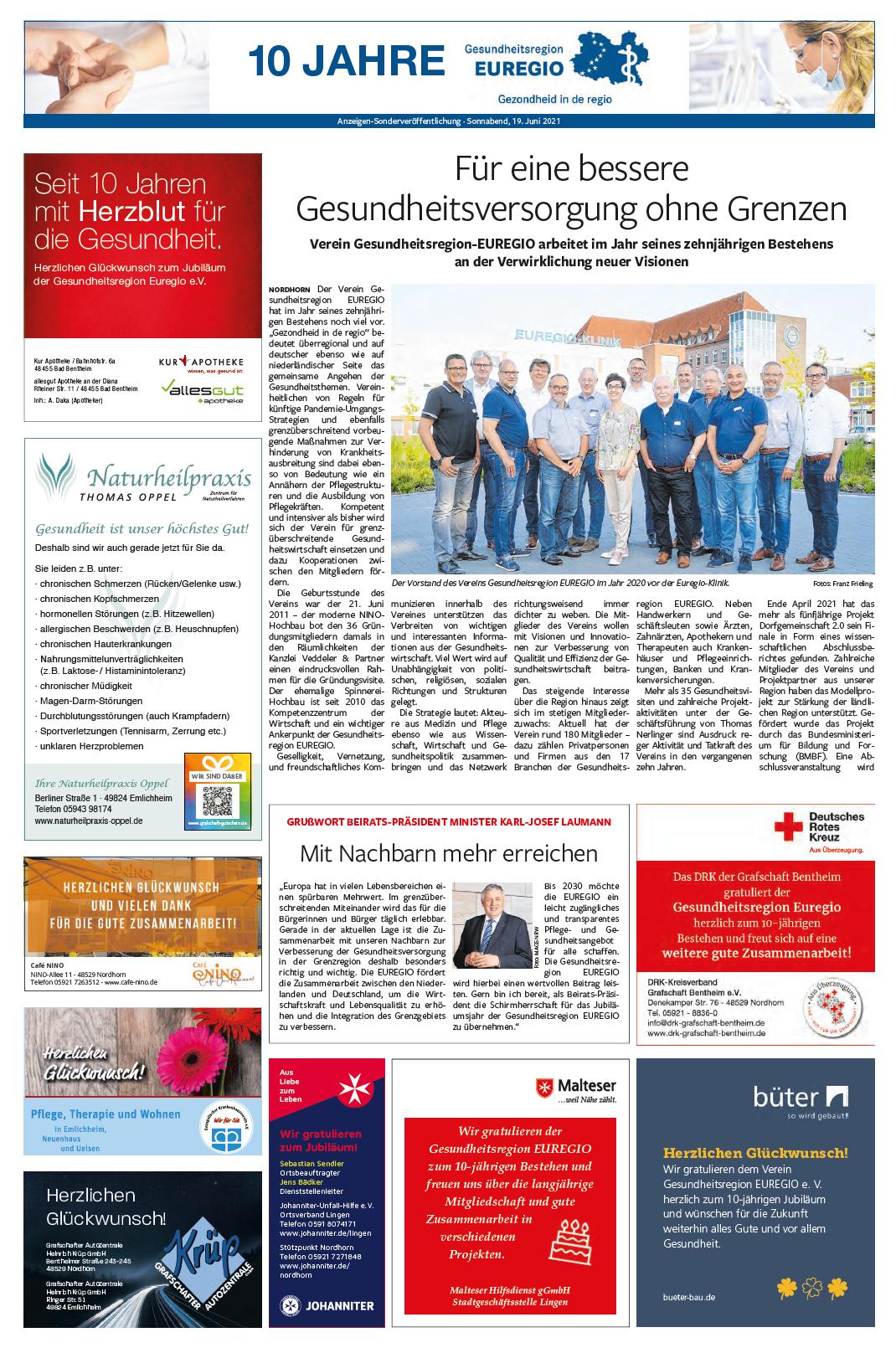 Sonderveröffentlichung Grafschafter Nachrichten - Seite 1