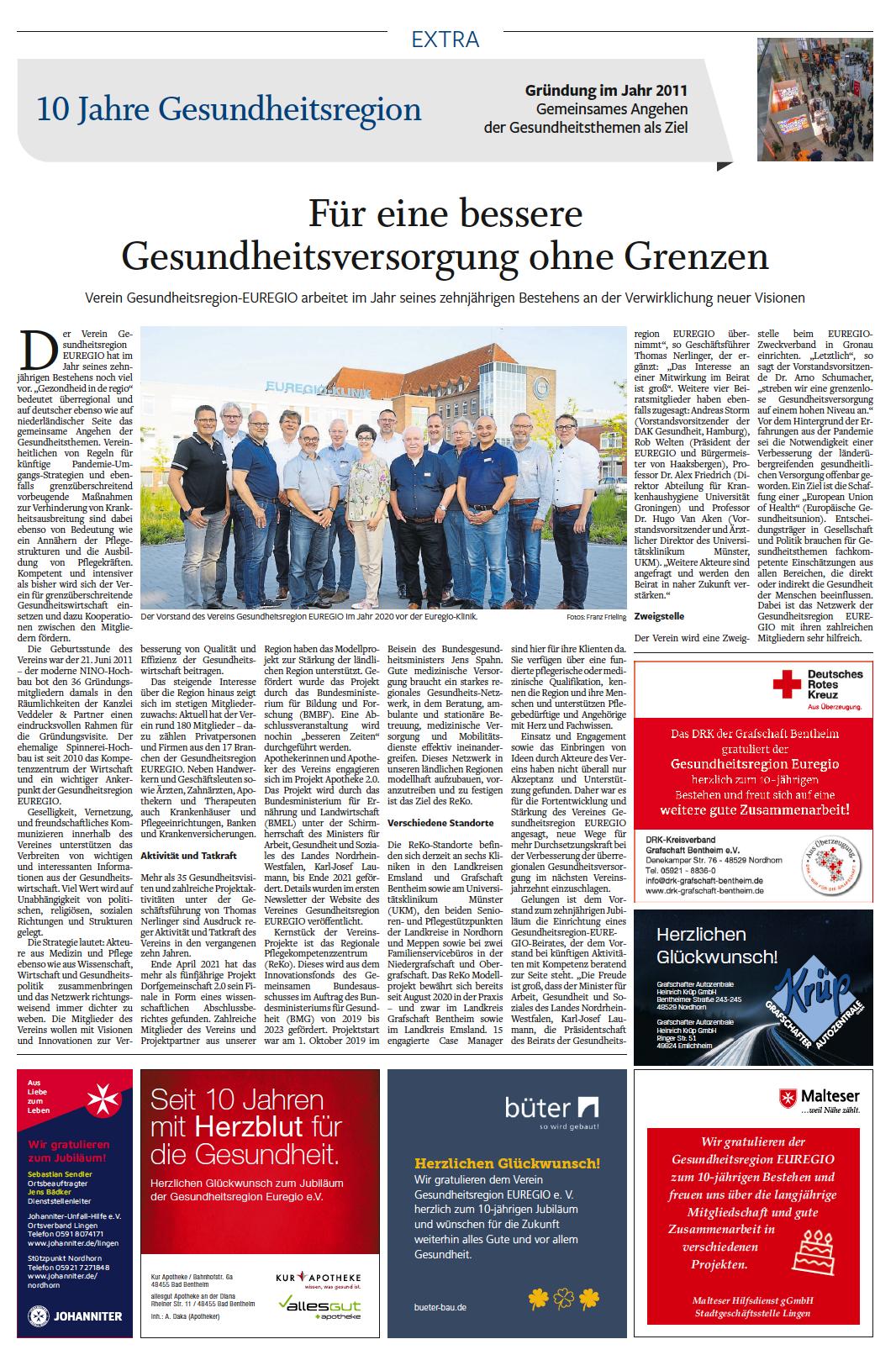 Sonderveröffentlichung Neue Osnabrücker Zeitung (Lingener Tagespost)